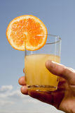 Jus d'orange op Hemel royalty-vrije stock foto