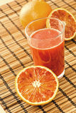 Jus d'orange sicilien Photos stock