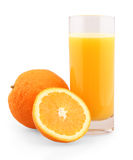 Jus d'orange sur le blanc Image libre de droits