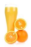Jus d'orange van sinaasappel Stock Fotografie