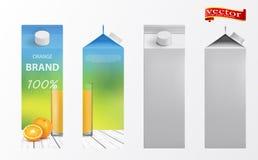 Jus d'orange verpakkingsontwerp Verpakkende het ontwerp vectorillustratie van het jus d'orangemalplaatje stock illustratie