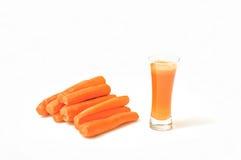 Jus de carotte images stock