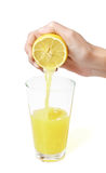 Jus de citron photo stock