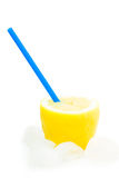 Jus de citron normal frais avec de la glace Photo stock