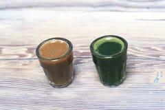Jus de concombre et de pomme de terre Photographie stock