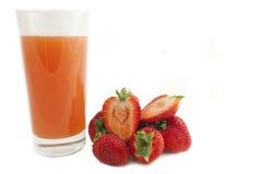 Jus de fraise Photos stock