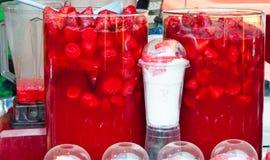 Jus de fraise Image stock