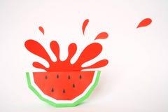 Jus de fruit de concept, reklama d'élément Éclaboussure de pastèque image stock