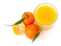 Jus de mandarine Photographie stock