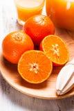 Jus de mandarine Photos libres de droits