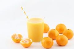 Jus de mandarine Photographie stock libre de droits