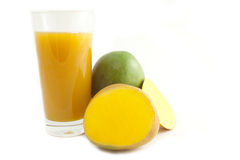 Jus de mangue Photos libres de droits