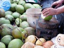 Jus de noix de coco Images libres de droits