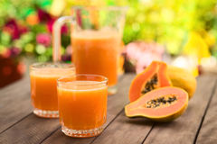 Jus de papaye Images libres de droits