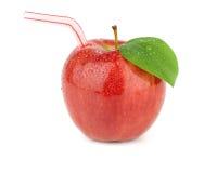 Jus de pomme rouge mûr Images libres de droits