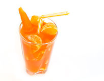 Jus de raccord en caoutchouc orange frais serré Images libres de droits
