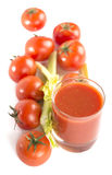 Jus de tomates Photo stock