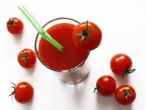 Jus de tomates Photos stock