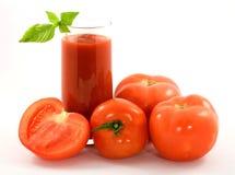 Jus de tomates Photographie stock