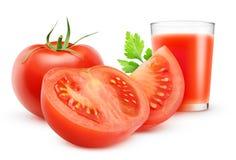 Jus de tomates Images libres de droits