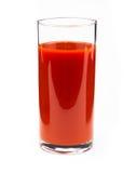 Jus de tomates d'isolement sur le blanc sur le blanc Images libres de droits