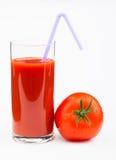 Jus de tomates d'isolement sur le blanc sur le blanc Image stock