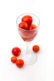 Jus de tomates des tomates-cerises Photos stock