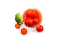 Jus de tomates des tomates-cerises avec broccoli-3 Photographie stock libre de droits