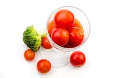 Jus de tomates des tomates-cerises avec broccoli-2 Photos stock