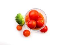 Jus de tomates des tomates-cerises avec le brocoli Photographie stock libre de droits