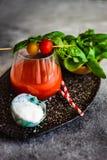 Jus de tomates frais image stock