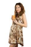 Jus enceinte heureux de boissons Image libre de droits
