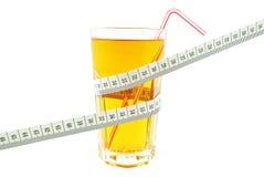 Jus et mètre de pomme Image libre de droits
