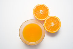 Jus et oranges d'orange Photo stock