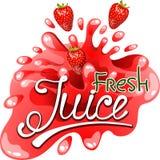 Jus frais de fraise Image libre de droits