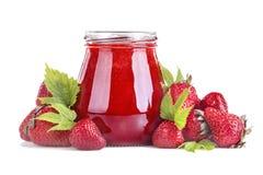 Jus frais de fraise Photographie stock