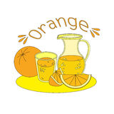 Jus frais orange Photographie stock
