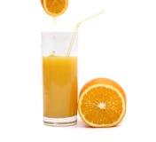 Jus orange et d'orange Photos stock