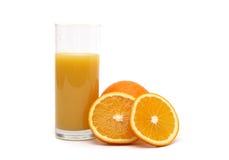 Jus orange et d'orange Photo libre de droits