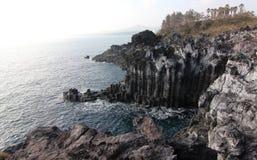 Jusangjeolli linia brzegowa na Jeju wyspie obrazy royalty free