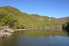 Jusanji水库在周王山国立公园 库存照片
