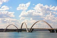 Juscelino Kubitschek桥梁在巴西利亚巴西 免版税库存图片