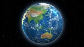 Jusqu'à la vue tournante de la terre 4K de l'espace clips vidéos
