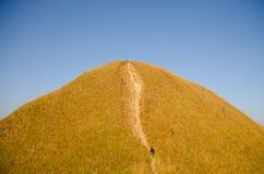 jusqu'au dessus de la colline Images libres de droits