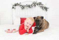 Free Just A Boy And His Dog Stock Image - 133477661