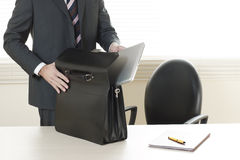 Just arrived in the office Stock Photos