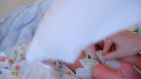 Just as the boy born. HD stock footage