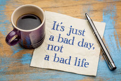 It is just a bad day, not ... Stock Image