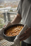 Just baked apple cake Royalty Free Stock Images