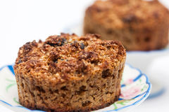 Just baked integral wheat bran muffins Royalty Free Stock Photo